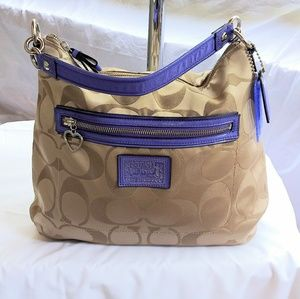 Coach Daisy Poppy Hobo Handbag F20064
